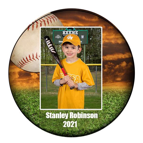 baseball round wall plaque