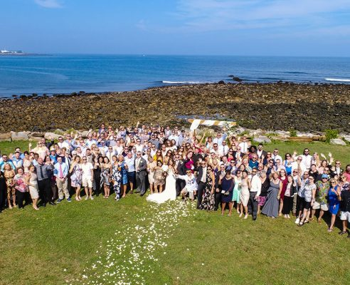 Wedding Photography & Videography Drone Group Photo